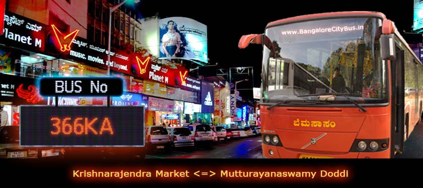 BMTC '366KA' Bus Route & Timings - Bangalore City Bus No. 366KA Stops